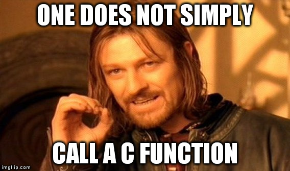 one does not simply call a c function